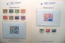 Deutschland Sammlung 1936-2012 alle Olympia Olympic Briefmarken ** im Album