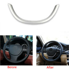 Stylish ABS Chrome Steering Wheel Cover Trim For BMW 5 Series F10 GT F07 11-15