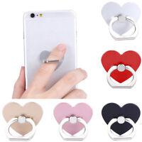 EG_ 360º Rotatable Heart Finger Ring Grip Mobile Phone Stand Holder Universal N