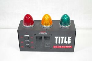 Title Boxing Deluxe Gym Timer Tested W/Lights and Sound