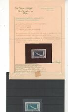1930 Crociera Transatlantica 7,70 Lire nuovo MNH certificato Bolaffi