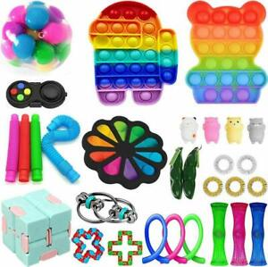 30Pc TIK Tok Fidget Toys Pack Sensory Fidget Toys Push Bubble Pop Toy Stress AU