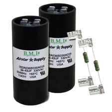 (2) PACK , 36 - 43 UF MFD HVAC Motor Start Capacitors 330 VAC VOLT w/ Resistors