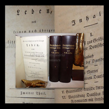 LESSING, Gotthold Ephraim: LEBEN (VITA e OPERE) 3 volumi 1793-1795 Berlino Voss