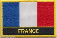 10 x France Flag Embroidered Patch Badge - Sew or Iron on - Wholesale Job Lot