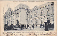 Düsseldorf 1902 Ausstellung Besuch S.K. Hoheit des Kronprinzen bei Eröffnung AK