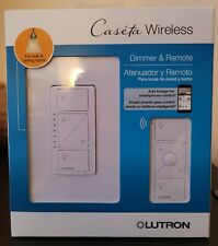 Lutron Caseta Wireless Smart Lighting Dimmer Switch and Remote Kit for Wall and