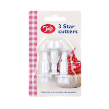 NEW 3 STAR PLUNGER CUTTERS FOR ICING SUGARPASTE SUGAR CRAFT TALA 0046