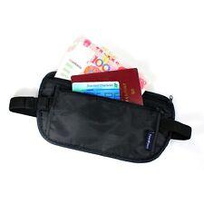 Neu Travel Pouch Versteckte Compact Sicherheit Geld-Passport-ID Gürtel Taschen
