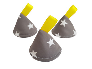 Pee Pee Teepee x3 // Wee Stop Cones Teepees // Boy Baby Shower Gift / Grey Stars