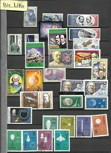 BIS_LIKE:many stamps diff. Countrys AIR &SPACE NH/ MH/ used/ w.g. 4 sh. LOT 206