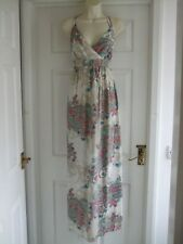 A Womens Size 10 Maxi Dress LADIES SUMMER EVENING SMART PARTY FLORAL BEACH