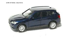 Herpa H0 - 034630 - BMW X3 Bleu Foncé Métallique Neuf & Emballage D'Origine