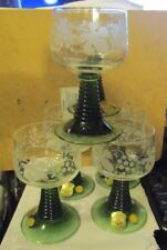 WITTIG CRYSTAL ER WI Hadamar 1919 Lot of (6) STEMWARE MADE IN WESTERN GERMAN NEW