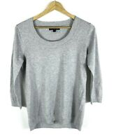 Banana Republic Women Sweater Pullover Scoop Neck Cotton Tencel Cashmere Wool XS