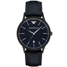 Emporio Armani Renato AR2479 Blue / Blue Leather Analog Quartz Men's Watch