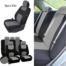 9PCS Breathable Car Seat Covers Cushions Front+Rear For 5 Seats Sedans Universal