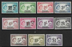 STAMPS-NYASALAND. 1963. Revenue Stamps Overprinted Postage Set. SG: 188/98. MNH.