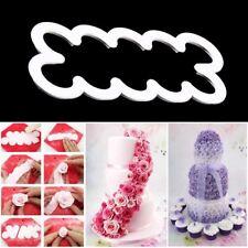 Rose Petal Flower Cake Cutter Fondant Icing 3D Tool Decorating Mould (White) UK