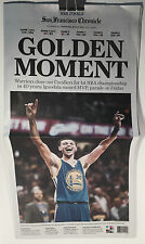 GOLDEN STATE WARRIORS NBA CHAMPIONSHIP S F CHRONICLE NEWSPAPER 2015 FREE SHIP