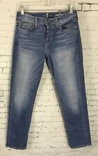 Seven 7 For All Mankind Josefina Skinny Boyfriend Jeans Light Wash Size 25