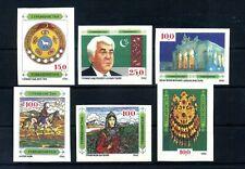 1992 TURKMENISTAN SET MNH ** IMPERFORATED 4/9 Aspetti della Cultura nazionale