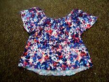 Rebecca minkoff Blue-multi Floral Dev Top Size XS = fit  UK - 6-8