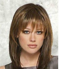 LMRAJF08  pretty new medium sexy Brown mixed wigs for women natural Hair wig