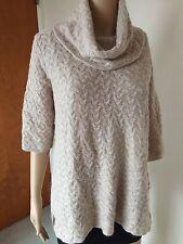 New Kenar top blouse brown short sleeve polyester, nylon, angora, wool, size L