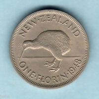New Zealand. 1948 Florin - SCARCE..  aU-UNC
