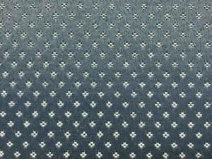 Imperial Country French Blue Small Scale Velvet Upholstery Fabric