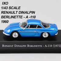 1/43 IXO RENAULT DINALPIN BERLINETTE - A -110(1972) Die Cast Car Model