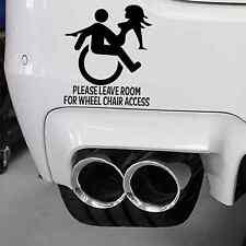 Accesso disabili richiesto Adesivo Sexy UMORISMO lasciare l'accesso Spazio Per Ruota Sedia