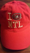 I Love Montreal Canadiens Reebok hat (Adjustable Adult and Kids)