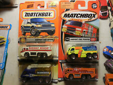 Matchbox Airport Fire Pumper Trucks FLAME EATERS FIRE FIGHTER AIRPORT ALARM 50TH