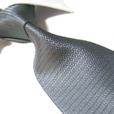"""Extra Long Polyester Tie,Grey Solid Gents XL Necktie Woven Jacquard PL353 63"""""""