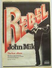 John Miles 1976 original Poster Advert Rebel