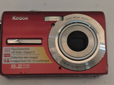 Kodak EasyShare M863 8.2MP Digital Camera, Red, with NEW Battery, Working GREAT