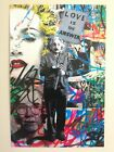 MR. BRAINWASH LOVE IS THE ANSWER RARE AUTHENTIC LITHOGRAPH PRINT POP ART POSTER