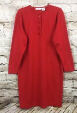Women's Liz Claiborne Red Dress Size Large Acrylic Blend