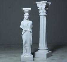 Caryatid & Corinthian Order Column Acropolis Athens Greek Roman Alabaster Statue