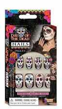 Day Of The Dead Stick On Reusable Nails D?a de Muertos Costume Fake Accessory 12