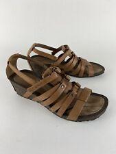 Teva Beige Leather Cabrillo Gladiator Wedges Sandals 1008268 Women's Size 10