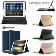 For iPad Mini 4 Bluetooth Keyboard Slim Leather Case Detachable Smart Cover