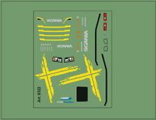H0/1:87 DIS0322 Schwedenkreuz Decal für Scania Zugmaschienen CS/CR