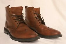 Stafford Boots 014-1218 Brown Leather Wingtip Chukka Ankle Boots Men's Sz 7.5 US