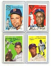 1954 topps ARCHIVES gold AUTO/signed CARD/set #121 clem LABINE dodgers TEAM 1994