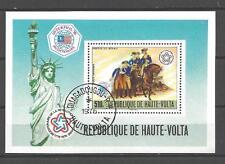 Chevaux Haute Volta (26) bloc oblitéré