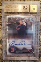 2016 Bowman Chrome Draft Bobby Dalbec Rookie Autograph BGS 9.5 Gem Mint Auto 10