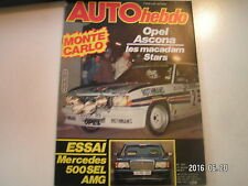 ** Auto Hebdo n°301 Paris Dakar / Monte Carlo / Mercedes 500 SEL AMG